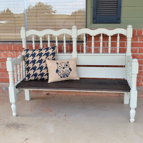 upcycled bed bench (via dreamalittlebigger)