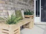cedar wood bench