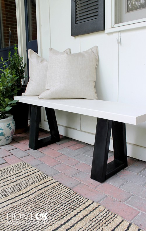 12 Pretty And Practical DIY Front Porch Benches Shelterness