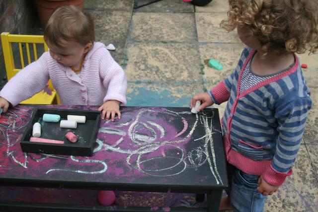 magnetic chalkboard table