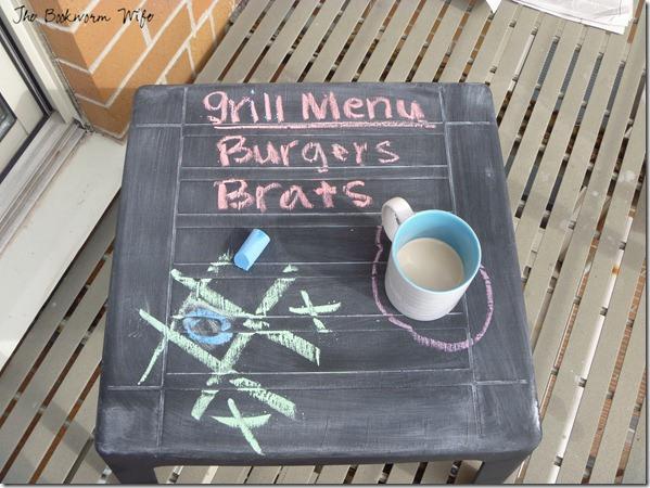 plastic chalkboard table
