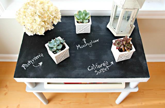chalkboard plant table