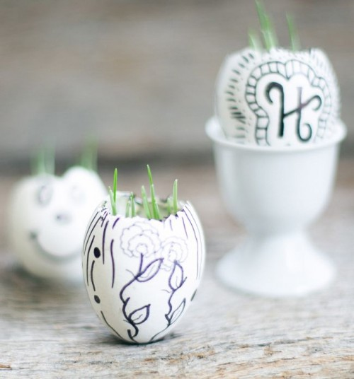 painted egg shell garden (via henryhappened)