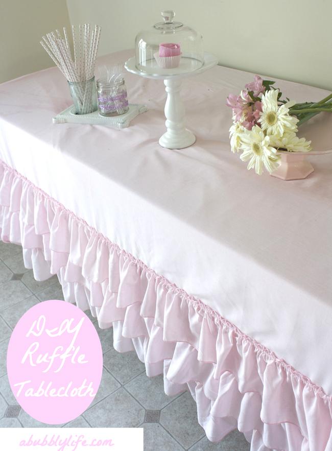 no sew ruffle tablecloth