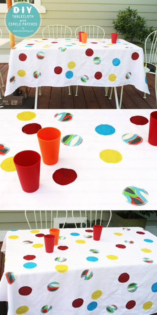circle patches tablecloth (via observationdiary)