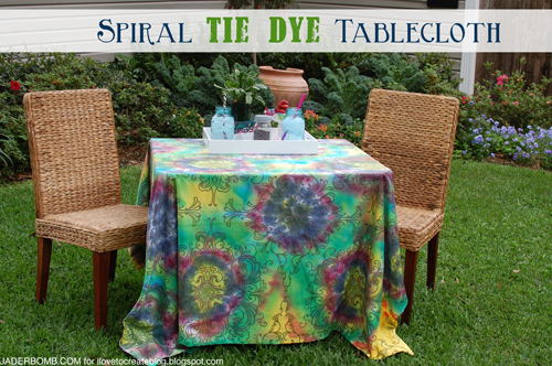 tie dye tablecloth (via ilovetocreateblog)