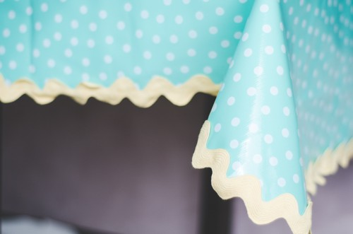 oilcloth tablecloth (via fourinthecity)