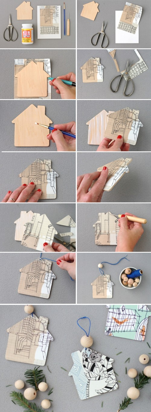 Pretty Diy Home Ornaments For Your Christmas Tree