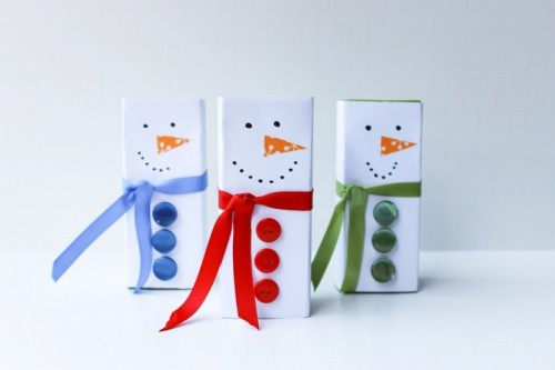 Pretty DIY Juice Box Snowmen