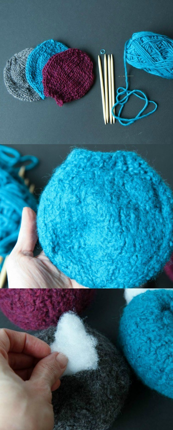Picture Of pretty diy miniature felted pumpkins  3