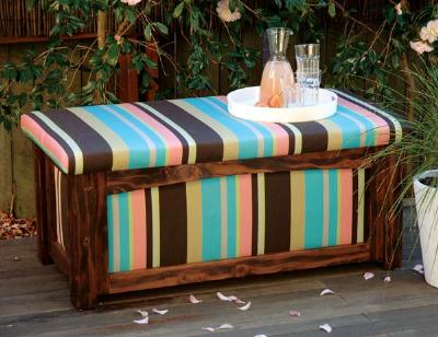outdoor patio storage bench plans