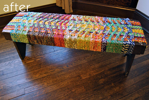 rope bench (via designsponge)
