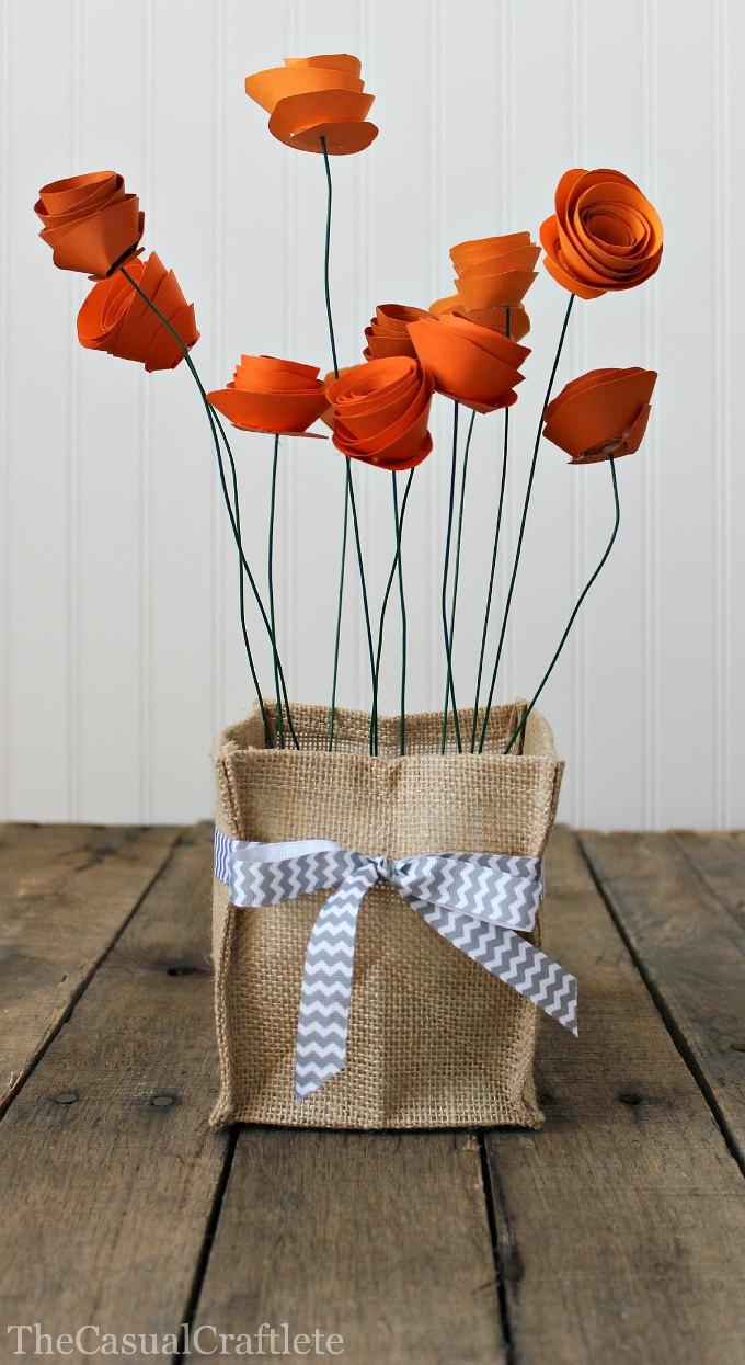 Pretty DIY Paper Flower Centerpiece
