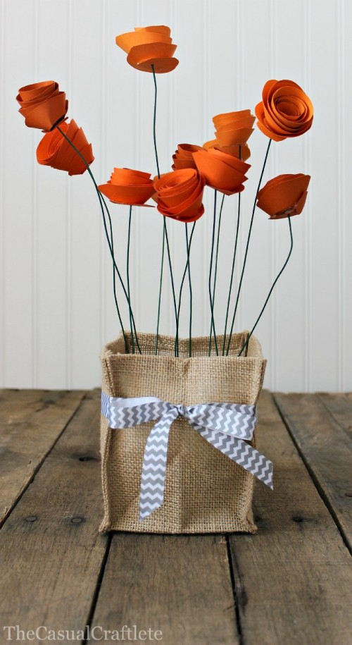 Pretty Diy Paper Flower Centerpiece