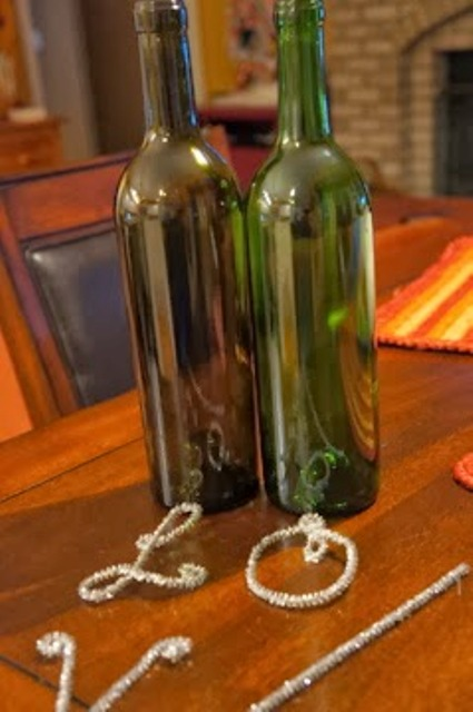 Pretty Diy Valentines Day Decoration Of Wine Bottles