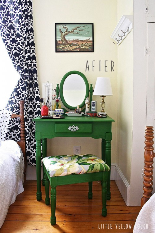 Ideal cool dressing table makeover via littleyellowcouch