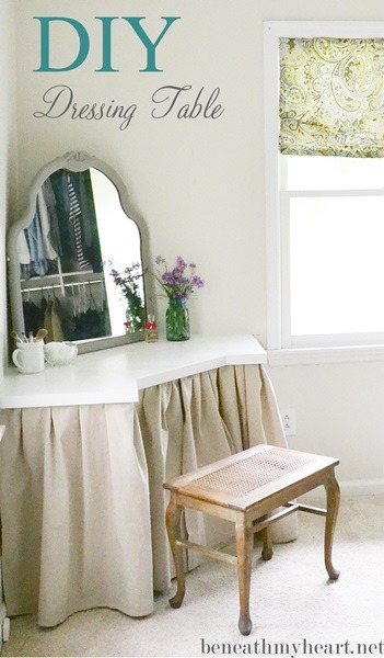 Corner Dressing Table Of Wood (via Beneathmyheart)