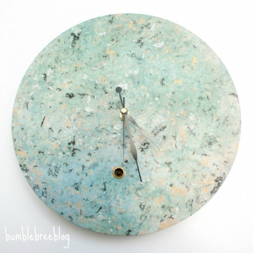 Pretty Spring-Inspired DIY Clock Renovation
