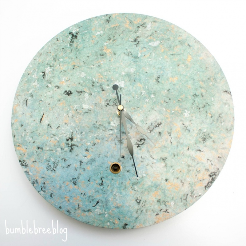 Picture Of pretty spring inspired diy clock renovation  1