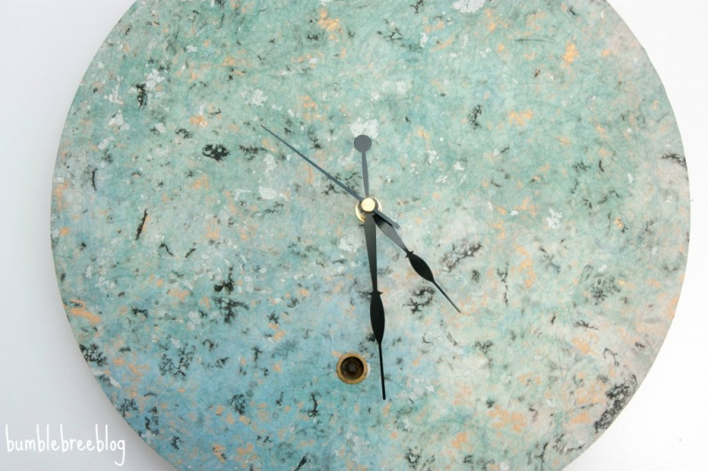 Picture Of pretty spring inspired diy clock renovation  3
