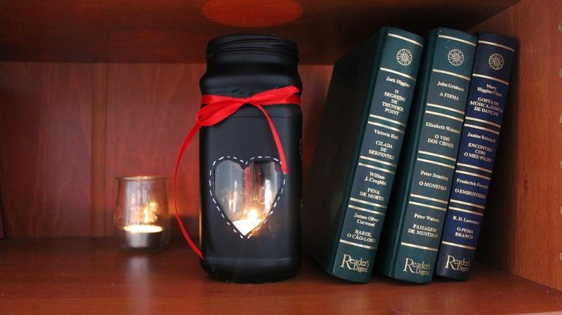 Valentine candle jar