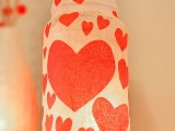 recycled tissue heart jar