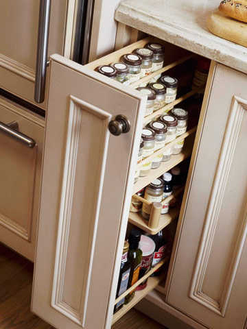 Kitchen Storage Solutions : 10 Pull-Out Spice Storage Solutions  Shelterness