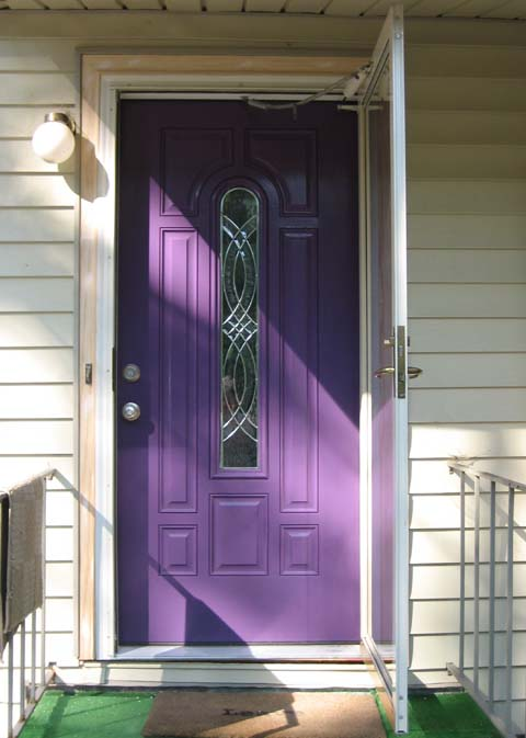 12 purple front door designs that inspire shelterness Gray front door meaning