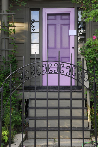 Purple Front Door Design