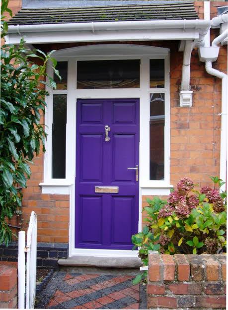 Picture Of Purple Front Door Design