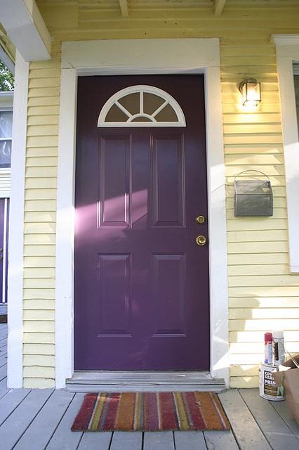 12 purple front door designs to insire shelterness