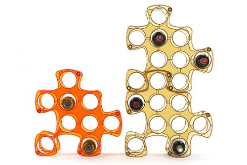 Modular Wine Rack That You Can Combine As A Puzzle
