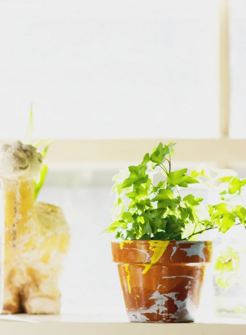 Easy And Quick DIY Chipped Paint Planter