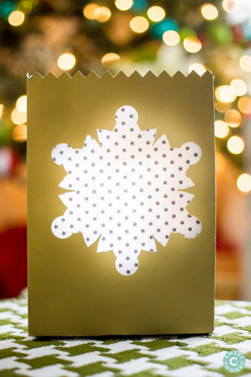 Quick And Easy DIY Snowflake Luminaries