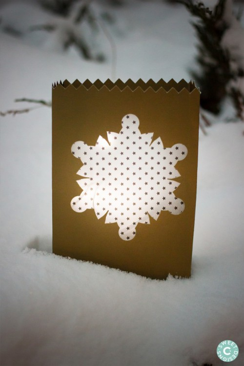 Quick And Easy DIY Snowflake Luminaries