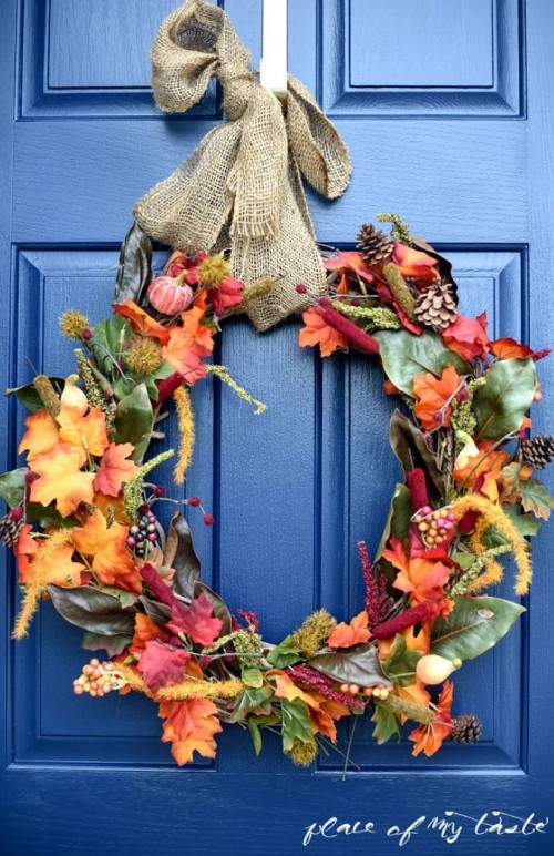 Quick DIY Fall Wreath From The Dollar Store