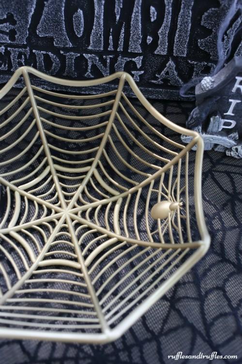 Quick Diy Golden Spiderweb Bowl