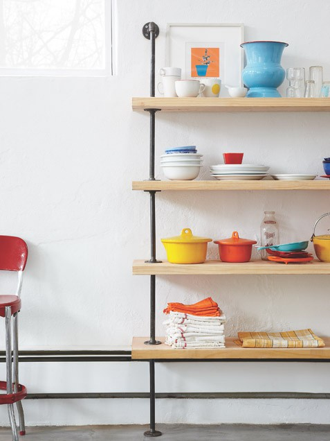 Quick DIY Shelving With Mid-Century Modern Design