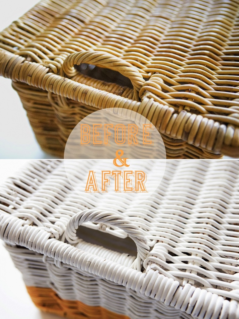 Quick Diy Rattan Basket Makeover