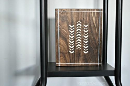 Quick DIY Wooden Tribal Art Piece