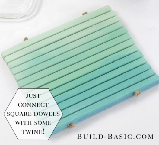 Picture Of quick to make diy slatted trivet  1