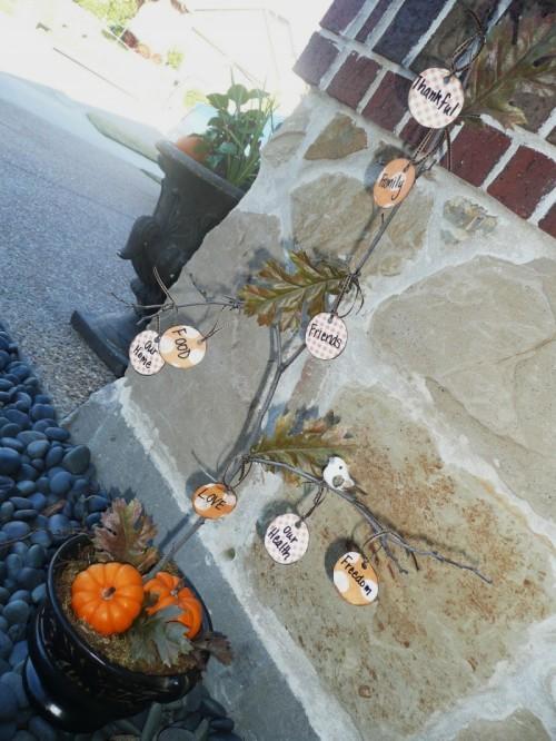 Real Thanksgiving Tree