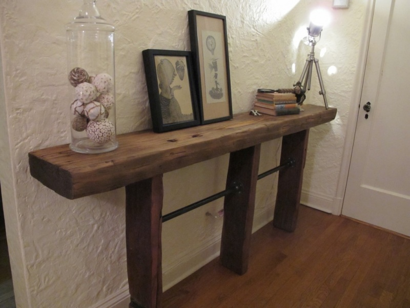 Impressive Pipe and Reclaimed Wood Console Table 800 x 600 · 122 kB · jpeg