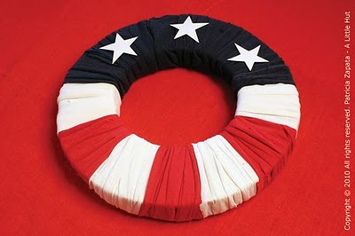 Recycled 4th Of July Wreath