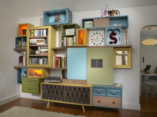 Storage Systems Made Of Reclaimed Furniture