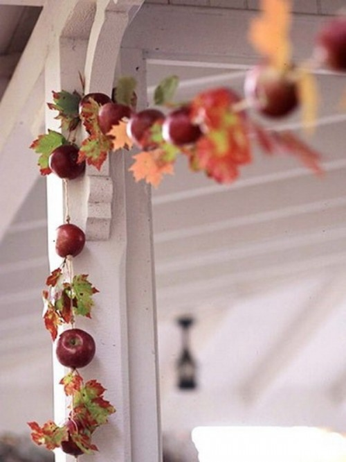 Red And Yellow Apples For Fall Decor