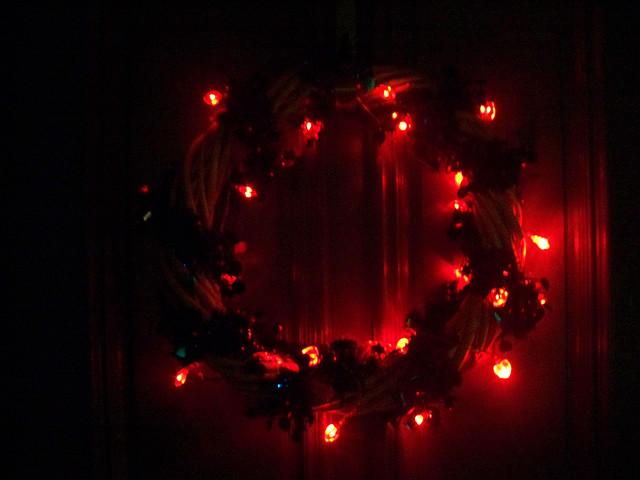 Red Light Wreath