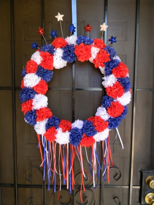 Red, White And Blue 4th Of July Wreath