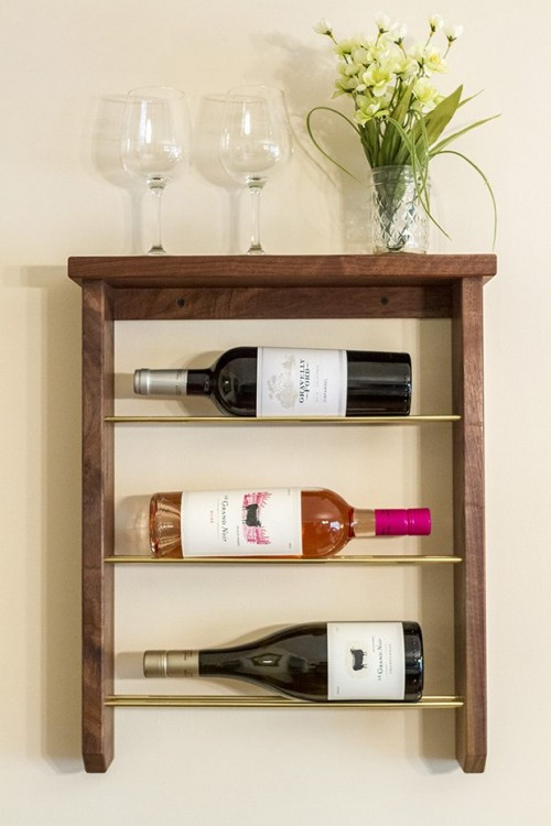 Refined Customizable DIY Wine Rack