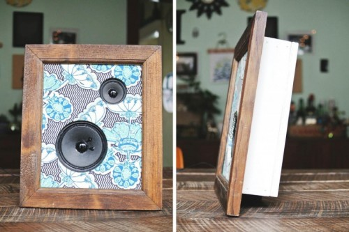 Retro DIY Framed Fabric Speakers